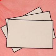 Umschläge für Trauerkarten