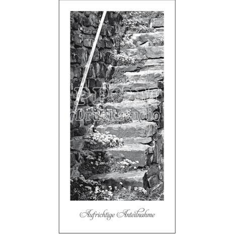 Trauerkarte Treppe