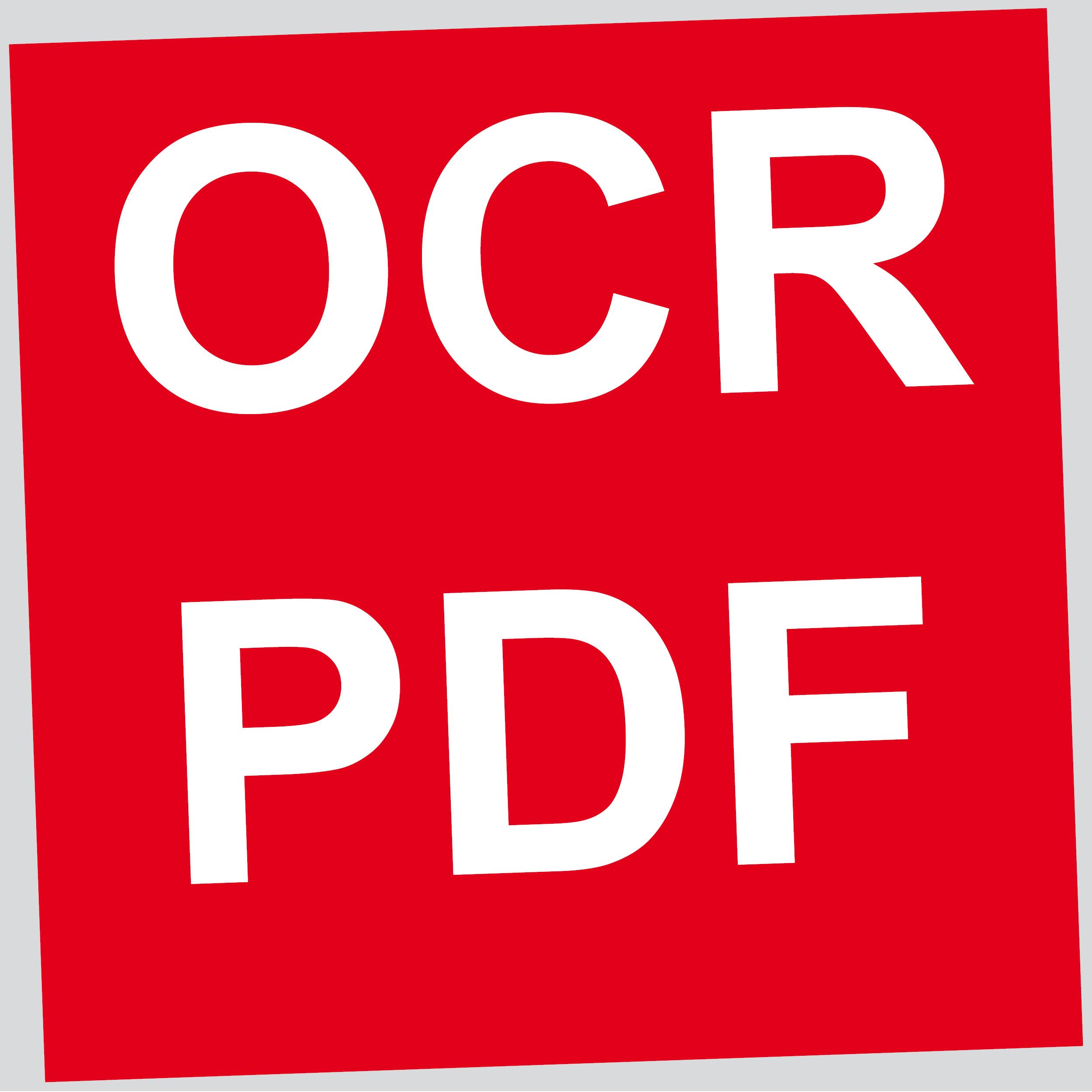 Scannen als OCR oder PDF Dokument