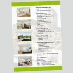 Plakate für Ferienwohnungen